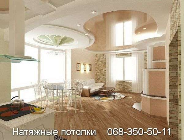 Натяжные потолки в студию Кривой Рог (3)