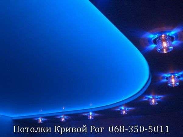 Натяжные потолки с подсветкой заказать в Кривом Роге (16)