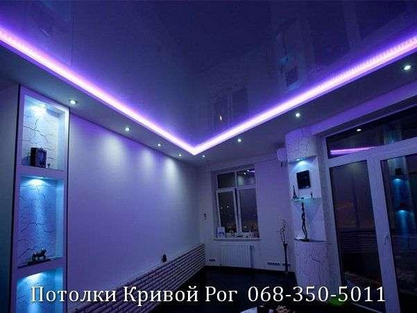 Натяжные потолки с подсветкой заказать в Кривом Роге (21)