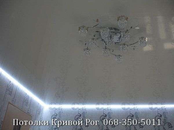 Натяжные потолки с подсветкой заказать в Кривом Роге (29)