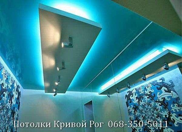 Натяжные потолки с подсветкой заказать в Кривом Роге (32)