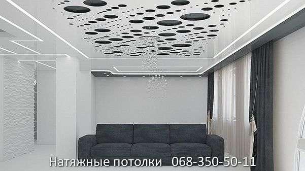 перфорированные резные натяжные потолки (43)