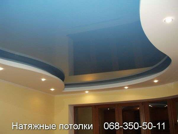 Многоуровневые натяжные потолки Кривой Рог (102)