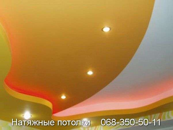 Многоуровневые натяжные потолки Кривой Рог (75)