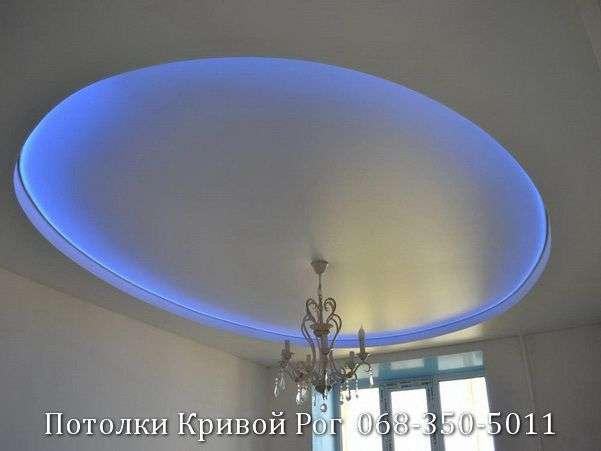 Натяжные потолки с подсветкой заказать в Кривом Роге (12)