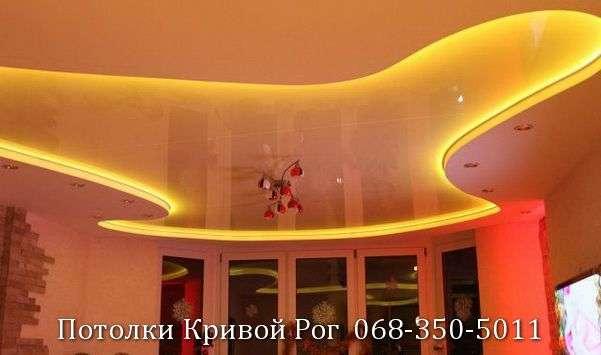 Натяжные потолки с подсветкой заказать в Кривом Роге (13)