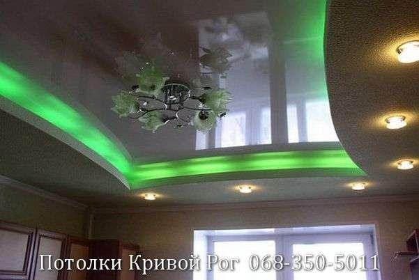 Натяжные потолки с подсветкой заказать в Кривом Роге (19)