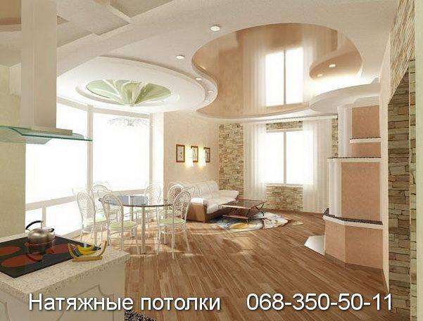 Зонирование комнаты с помощью натяжного потолка
