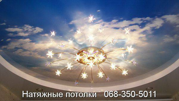 Натяжной потолок Небо